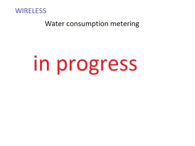 Wireless water consumption measurement and billing
